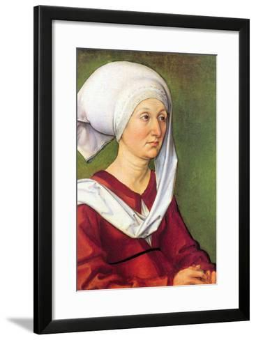 Portrait of Barbara Durer, Born Holper-Albrecht D?rer-Framed Art Print