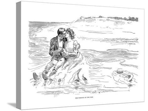 Gibson: Turning Tide, 1901-Charles Dana Gibson-Stretched Canvas Print