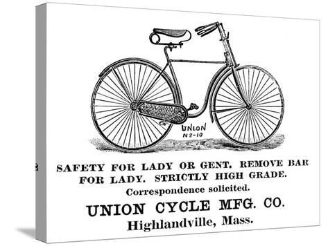 Bicycle Advertisement, 1890--Stretched Canvas Print