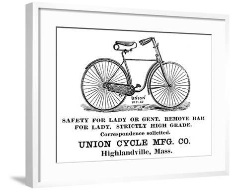 Bicycle Advertisement, 1890--Framed Art Print