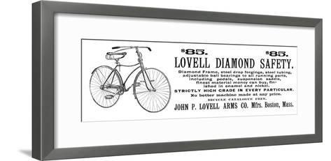 Bicycle Advertisement, 1890--Framed Art Print