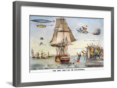 Gold Rush Cartoon, 1849-Currier & Ives-Framed Art Print