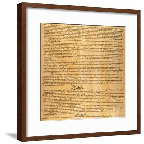 The Constitution, 1787--Framed Art Print