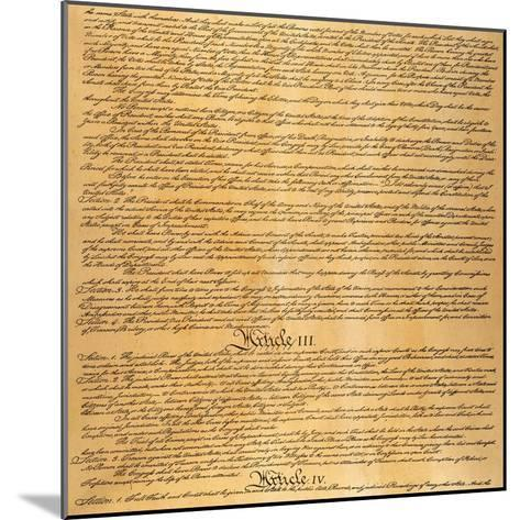 The Constitution, 1787--Mounted Giclee Print