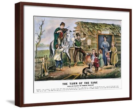 Folk Tradition, 1870-Currier & Ives-Framed Art Print