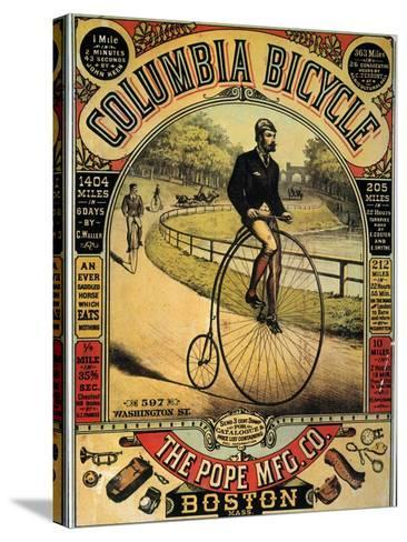Columbia Bicycles Poster--Stretched Canvas Print
