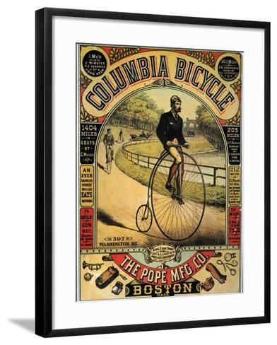 Columbia Bicycles Poster--Framed Art Print