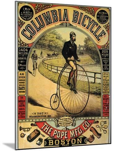 Columbia Bicycles Poster--Mounted Giclee Print