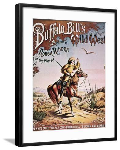 Buffalo Bill: Poster, 1893--Framed Art Print