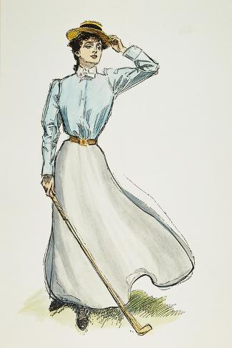 Gibson Girl, 1899-Charles Dana Gibson-Stretched Canvas Print