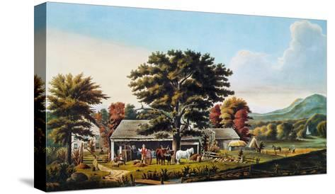 Autumn Scene, 1866-Currier & Ives-Stretched Canvas Print