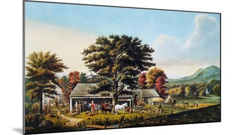 Autumn Scene, 1866-Currier & Ives-Mounted Giclee Print