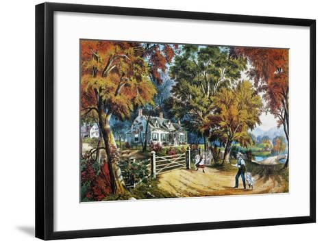 Home Sweet Home, 1869-Currier & Ives-Framed Art Print