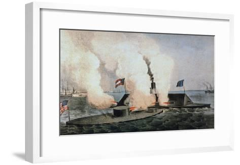 Monitor and Merrimack-Currier & Ives-Framed Art Print