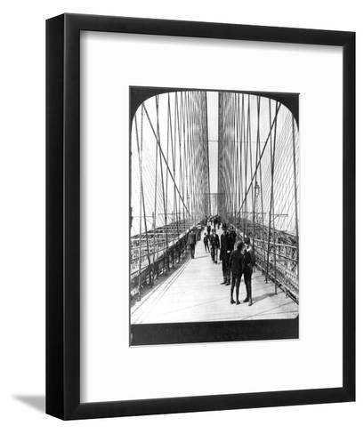 NY: Brooklyn Bridge, 1901--Framed Art Print