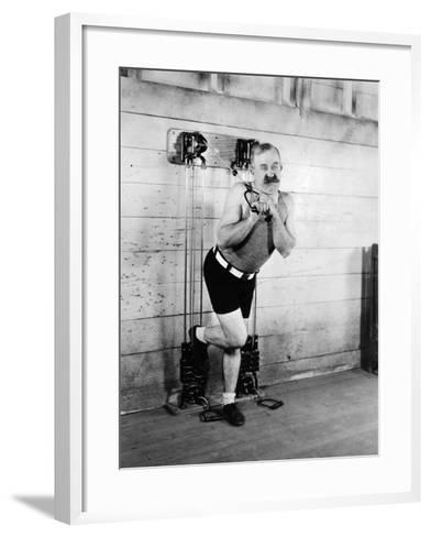 Silent Still: Exercise--Framed Art Print
