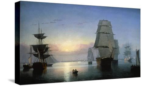Lane: Boston Harbor-Fitz Hugh Lane-Stretched Canvas Print