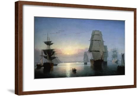 Lane: Boston Harbor-Fitz Hugh Lane-Framed Art Print