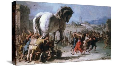 Trojan Horse-Giovanni Domenico Tiepolo-Stretched Canvas Print