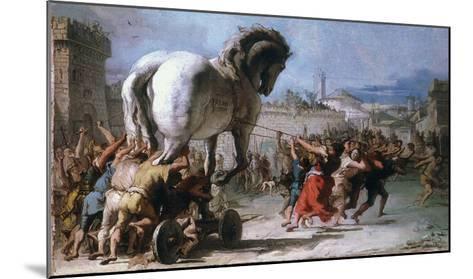 Trojan Horse-Giovanni Domenico Tiepolo-Mounted Giclee Print