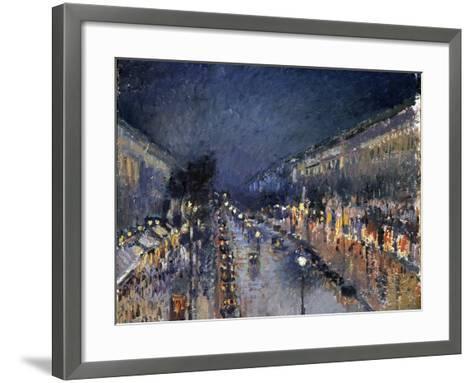 Pissarro: Paris at Night-Camille Pissarro-Framed Art Print