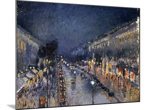 Pissarro: Paris at Night-Camille Pissarro-Mounted Giclee Print