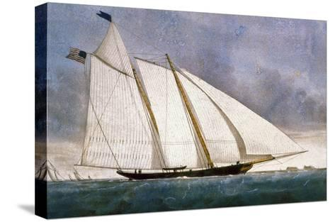 Clipper Yacht 'America'-Currier & Ives-Stretched Canvas Print