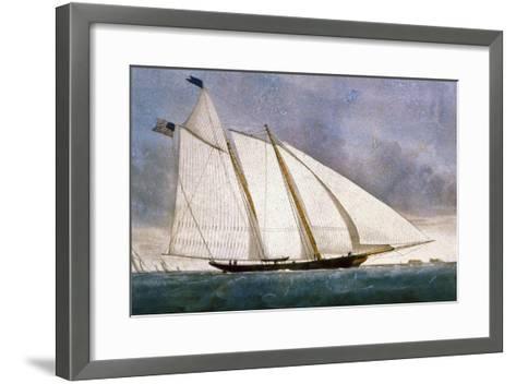 Clipper Yacht 'America'-Currier & Ives-Framed Art Print