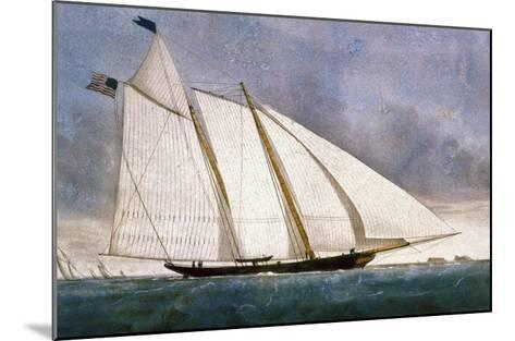 Clipper Yacht 'America'-Currier & Ives-Mounted Giclee Print