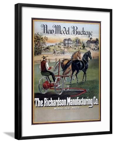 Farm Machinery Advertisement--Framed Art Print