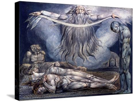 Blake: House of Death, 1795-William Blake-Stretched Canvas Print