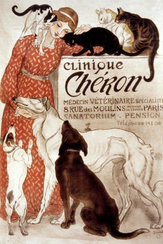 French Veterinary Clinic-Th?ophile Alexandre Steinlen-Stretched Canvas Print