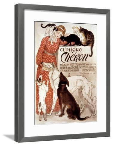 French Veterinary Clinic-Th?ophile Alexandre Steinlen-Framed Art Print