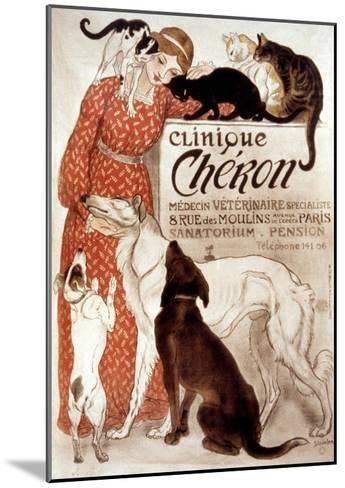 French Veterinary Clinic-Th?ophile Alexandre Steinlen-Mounted Giclee Print