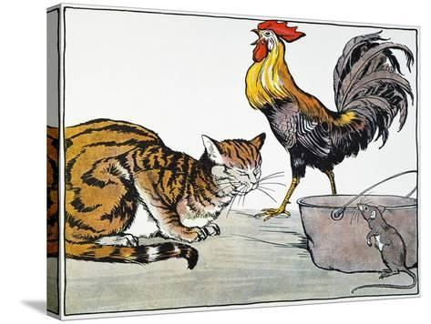 Aesop: Cat, Cock, and Mouse-Milo Winter-Stretched Canvas Print