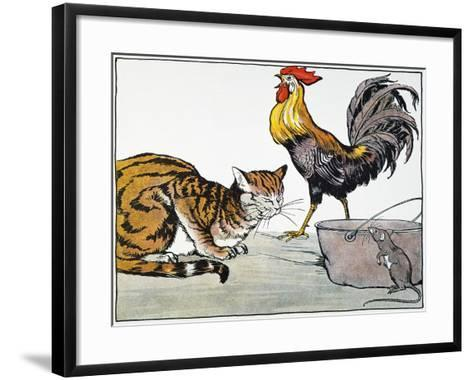 Aesop: Cat, Cock, and Mouse-Milo Winter-Framed Art Print