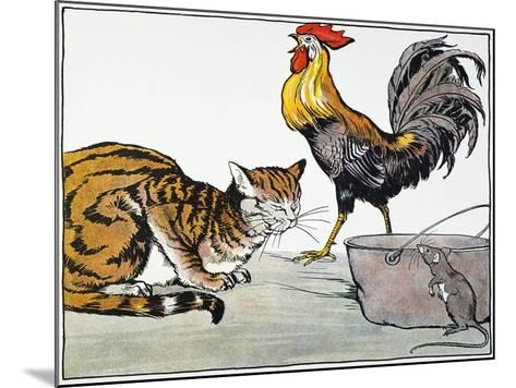 Aesop: Cat, Cock, and Mouse-Milo Winter-Mounted Giclee Print