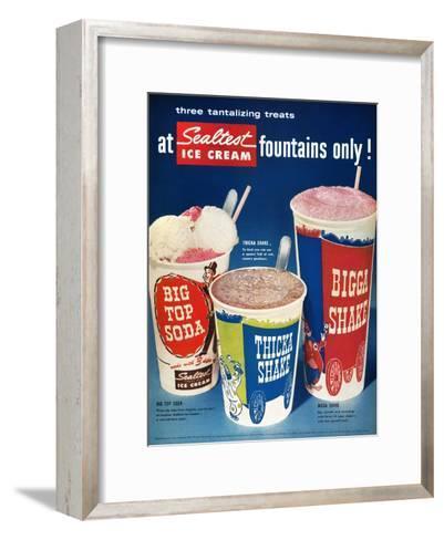 Ice Cream Ad, 1955--Framed Art Print
