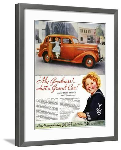 Dodge Automobile Ad, 1936--Framed Art Print
