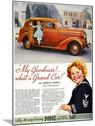 Dodge Automobile Ad, 1936--Mounted Giclee Print