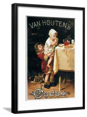Chocolate Trade Card--Framed Art Print