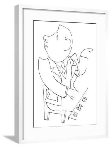 Francis Poulenc (1899-1963)-Jean Cocteau-Framed Art Print