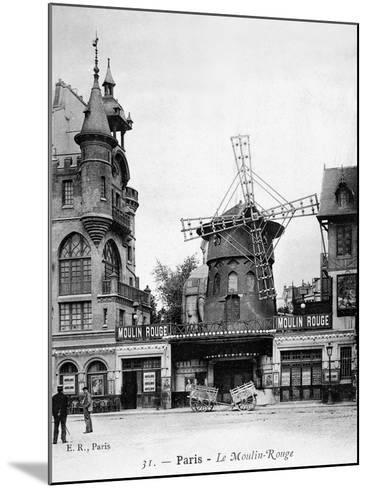 Paris: Moulin Rouge, c1900--Mounted Giclee Print