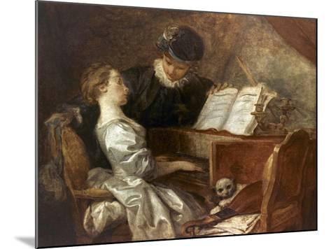 The Music Lesson-Jean-Honor? Fragonard-Mounted Giclee Print