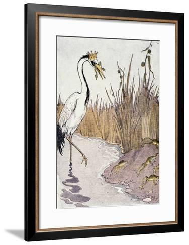 Aesop: Frogs Wish for King-Milo Winter-Framed Art Print
