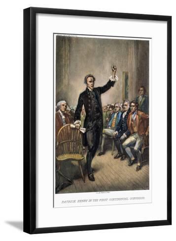 Patrick Henry (1736-1799)-Jean Leon Gerome Ferris-Framed Art Print