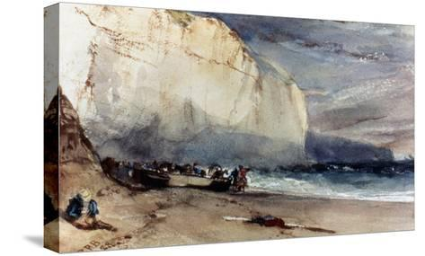 Bonington: Cliff, 1828-Richard Parkes Bonington-Stretched Canvas Print