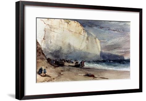 Bonington: Cliff, 1828-Richard Parkes Bonington-Framed Art Print