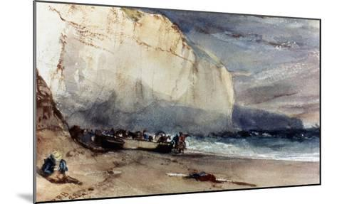 Bonington: Cliff, 1828-Richard Parkes Bonington-Mounted Giclee Print