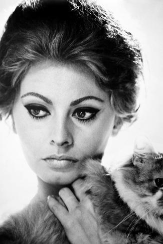 Sophia Loren (1934-)--Stretched Canvas Print